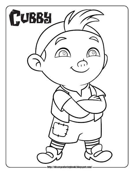 Jake and the Neverland Pirates Cubby Coloring Page