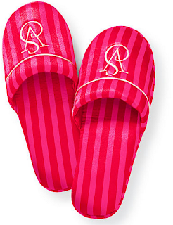 victoria secret pink satin slippers
