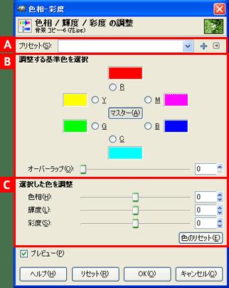 GIMP2の使い方 | 色相-彩度の使い方