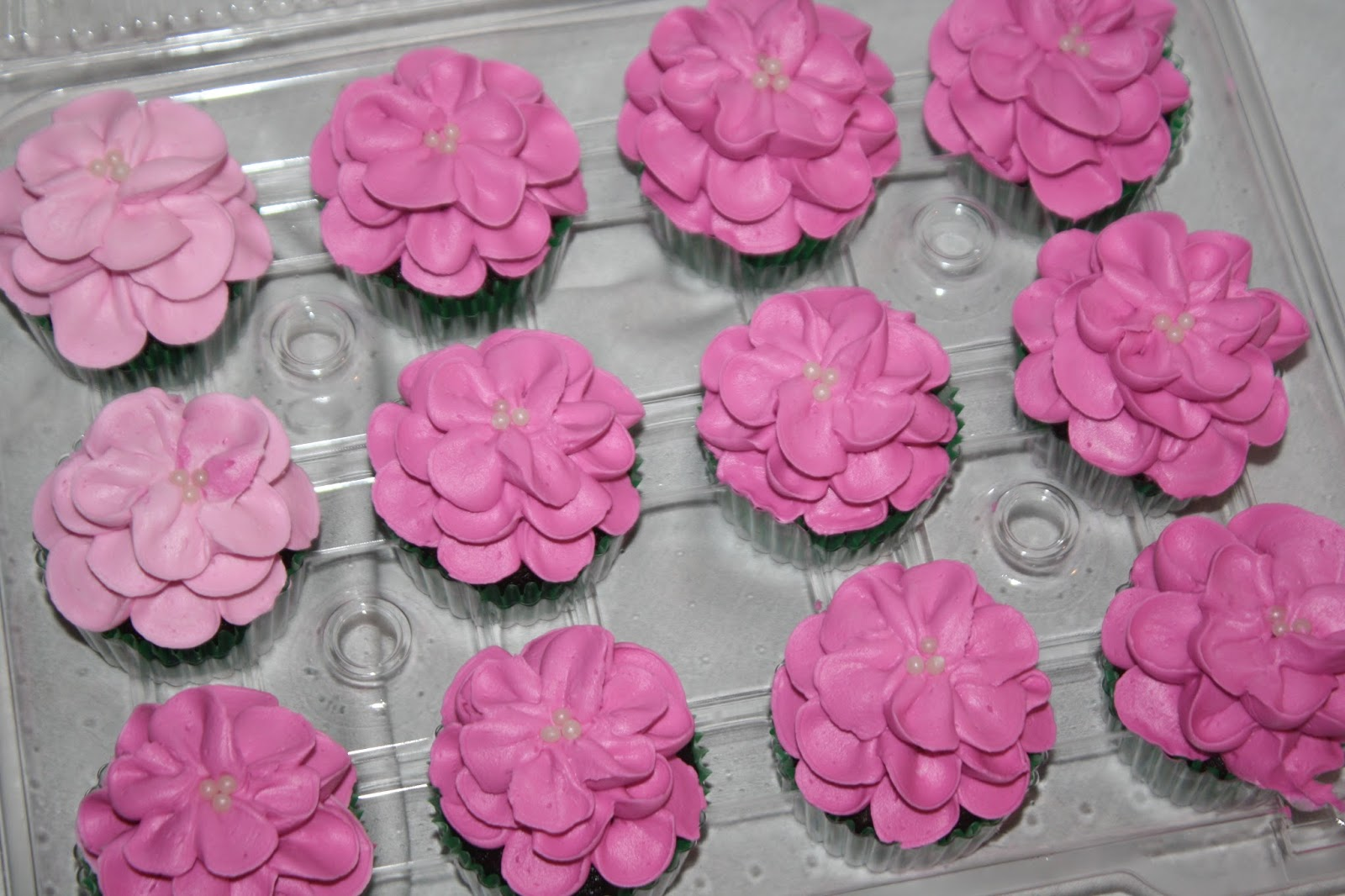 Hock Cakes Llc Pink Flower Cupcakes