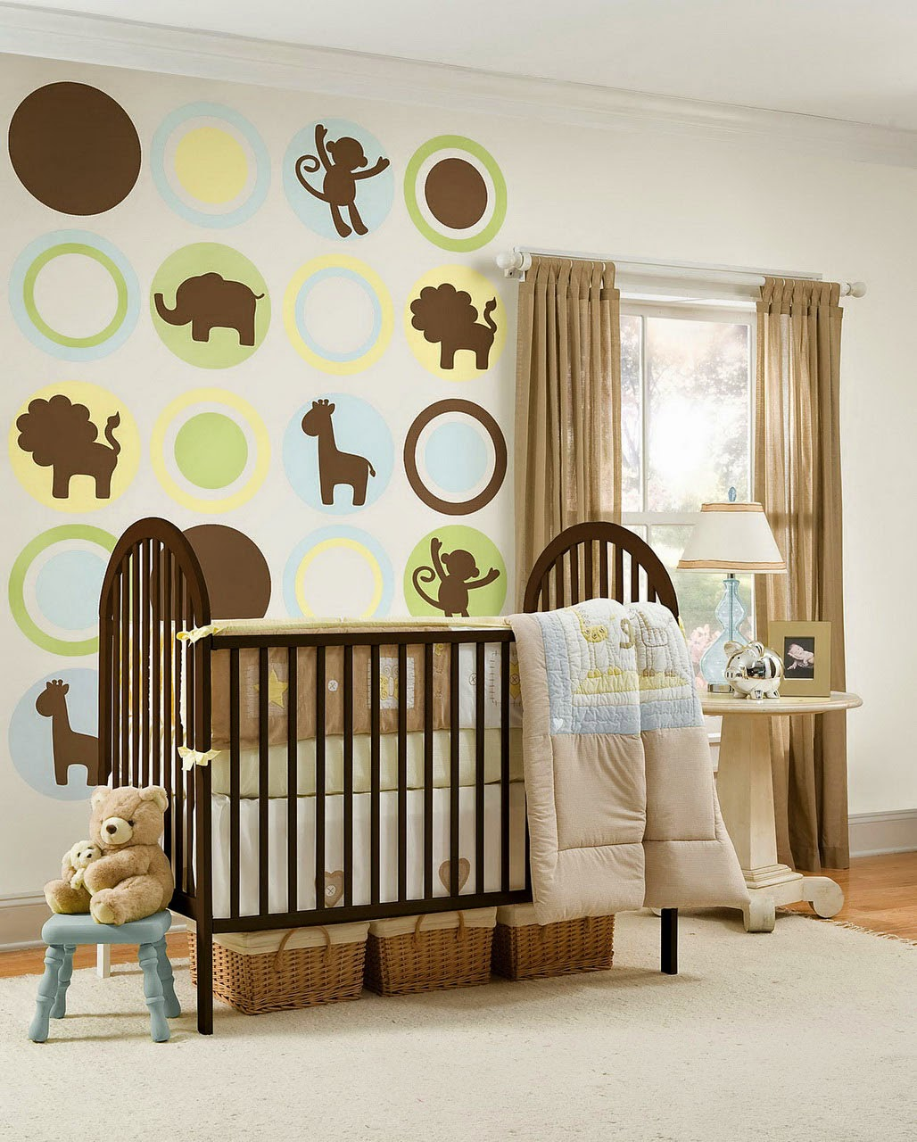 Brown curtains in bedroom - Brown Curtains Ideas For Nursery Room Combine Brown With Bright Colors For The Baby Health
