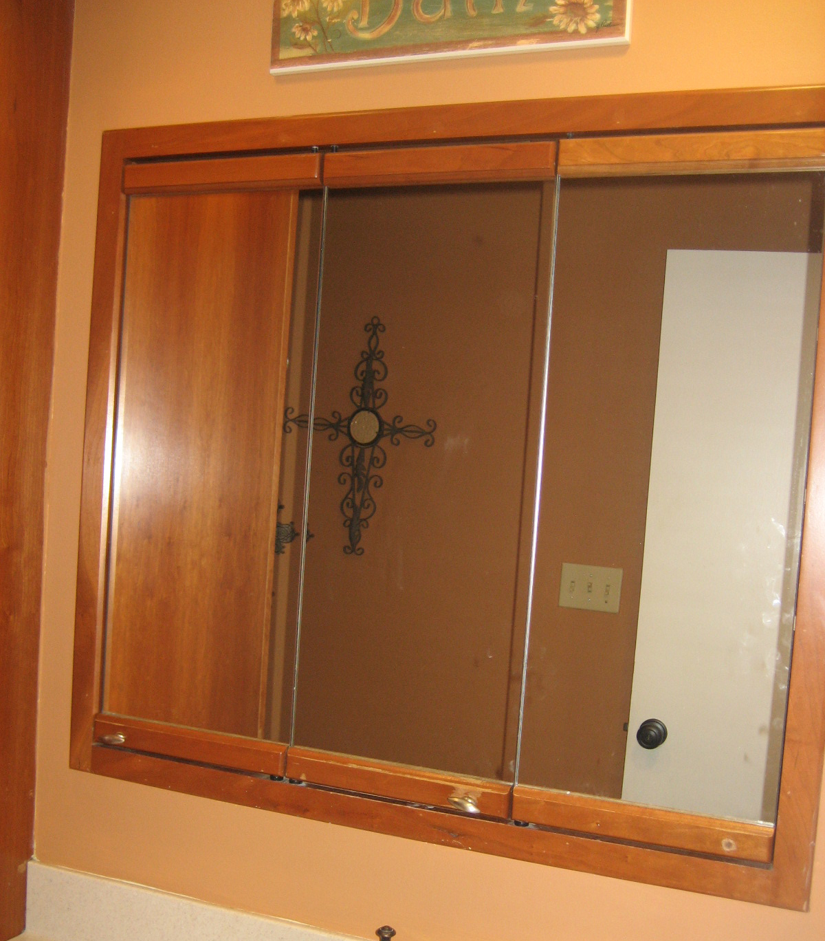 West furniture revival ole 39 time 3 mirror medicine - How to redo bathroom cabinets for cheap ...