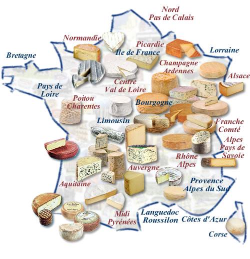 Le fran ais pour tous les diff rents types de fromages - Cuisine francaise par region ...