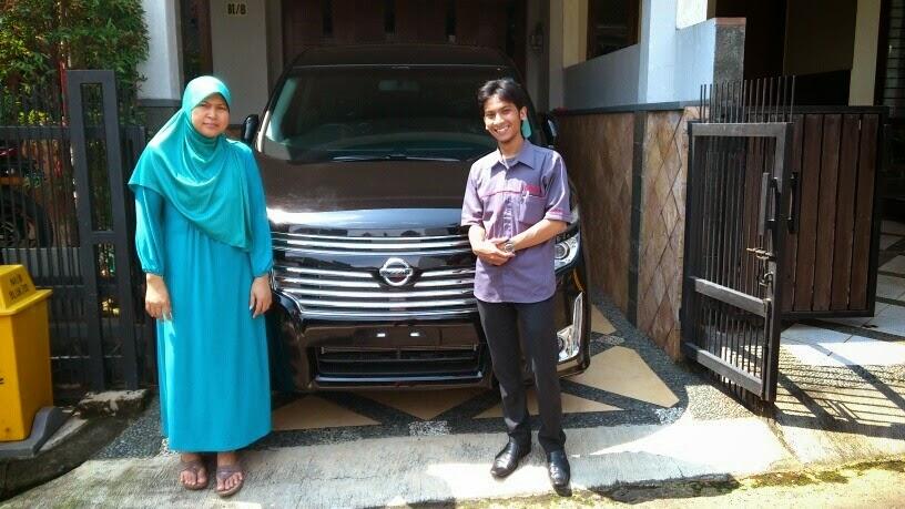 Terimakasih atas kepercayaan Pak Zaki Fanani & Keluarga yg telah membeli New Elgrand 3.5L CVT melalui media www.touchnissan.com.  Semoga Berkah ya Bu...