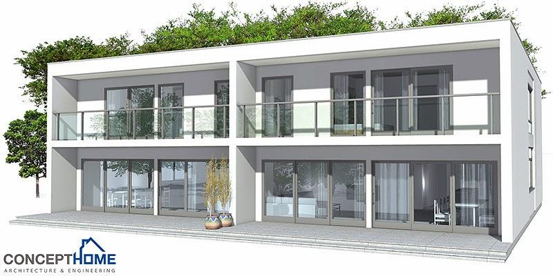 Modern detached house plan house plans for Modern detached house design
