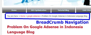 Installer Breadcrumb Navigation On Blogspot | Sharing SEO