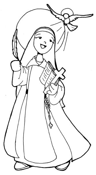 Dibujos para catequesis santa teresa de jes s de vila for St therese coloring page