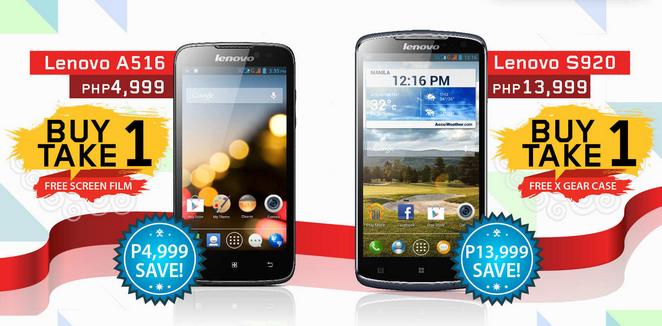 Lenovo Mobile Philippines, Lenovo A516 Philippines, Lenovo S920 Philippines, Lenovo Buy One Take One