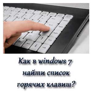 Как найти список сочетаний клавиш?