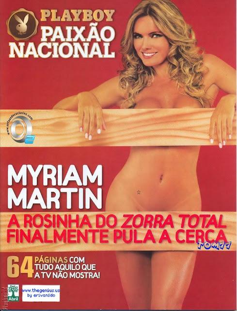 Confira as fotos da Rosinha do Zorra Total, Myriam Martin, capa da Playboy especial de maio de 2008!