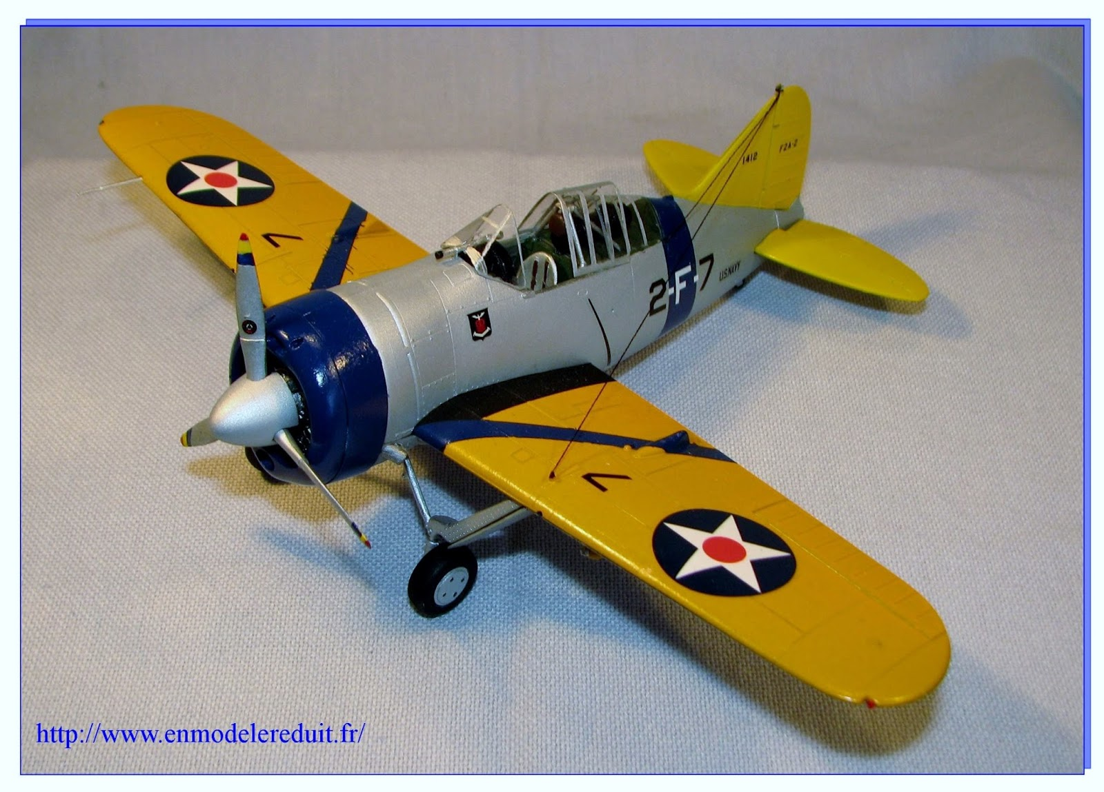 en mod le r duit buffalo brewster f2a 2 us navy tamiya ech 1 48 me. Black Bedroom Furniture Sets. Home Design Ideas