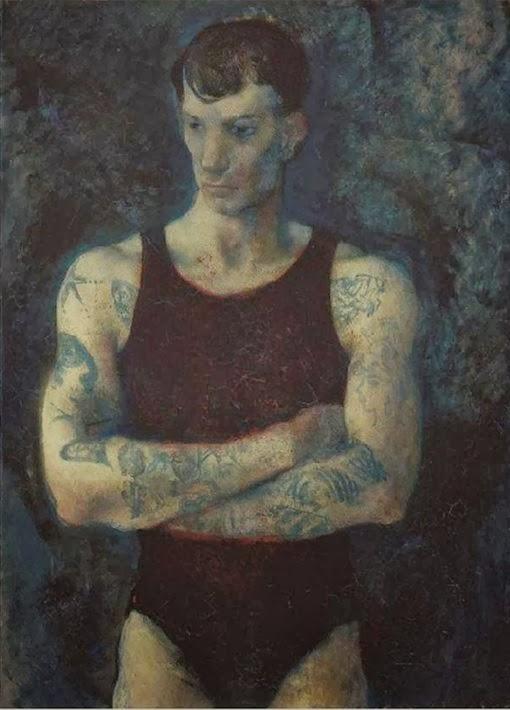 1934+Hombre+con+tatuajes+de+Pavel+Tcheli
