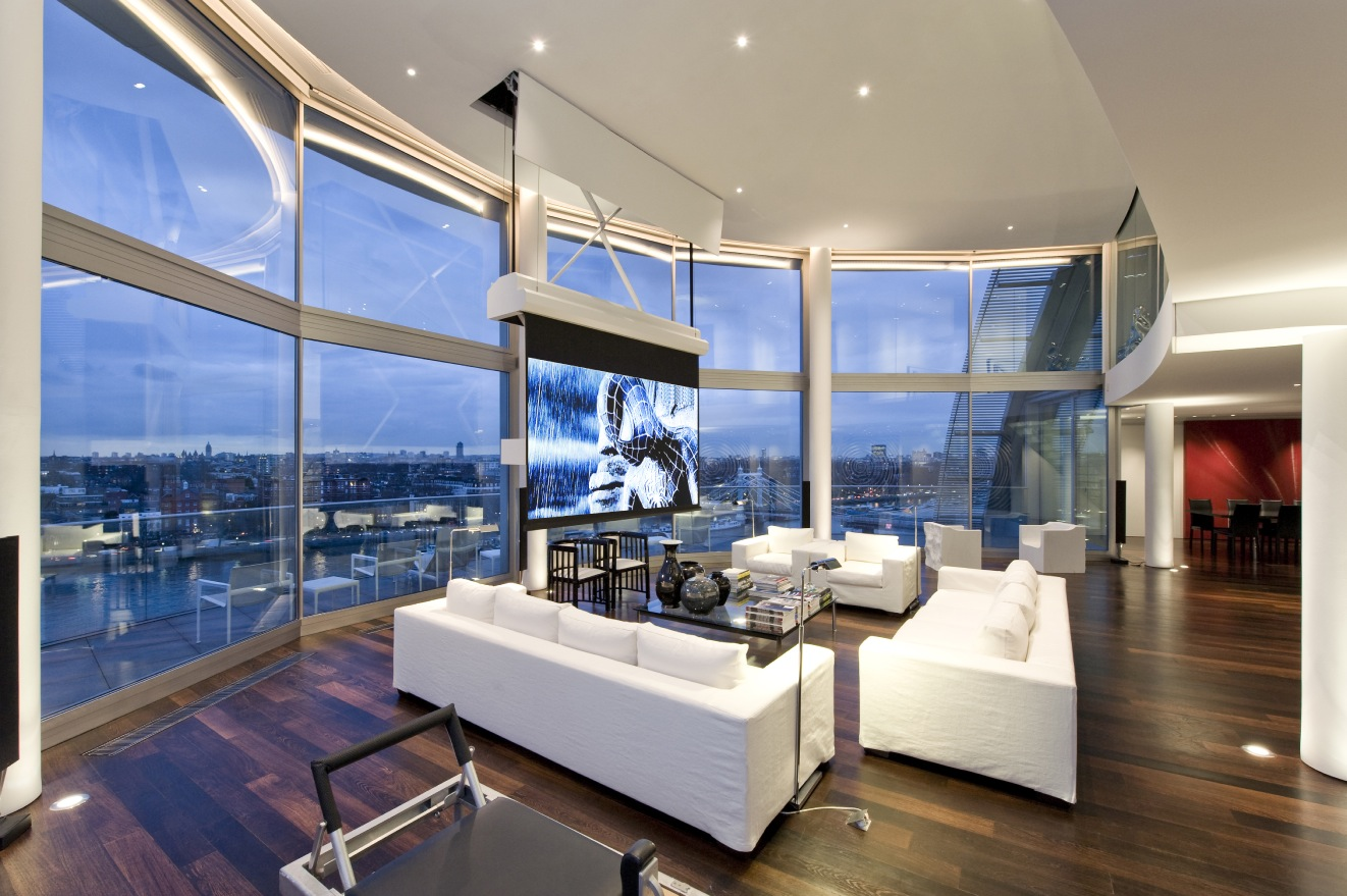 World of architecture living in london amazing riverside for One big room apartment