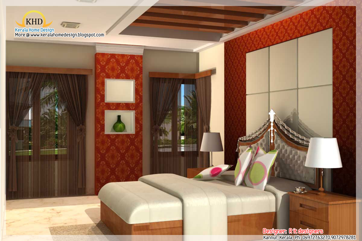 Interior design idea renderings kerala home design and for Kerala homes interior designs