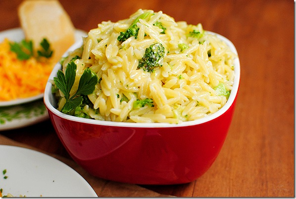 cheesy broccoli orzo creamy broccoli side dish crunchy broccoli slaw