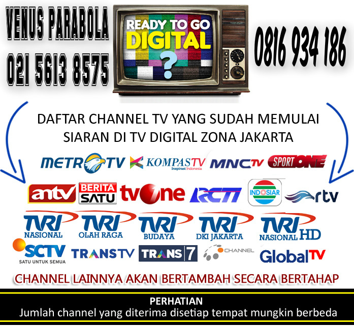 DAFTAR CHANNEL TV DIGITAL