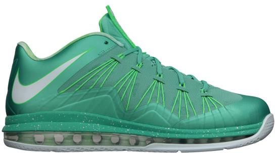 Nike Air Max LeBron X Low Crystal Mint/Fiberglass-Poison Green: Nike KD V  Turquoise Blue/Bright Citrus-Fiberglass: