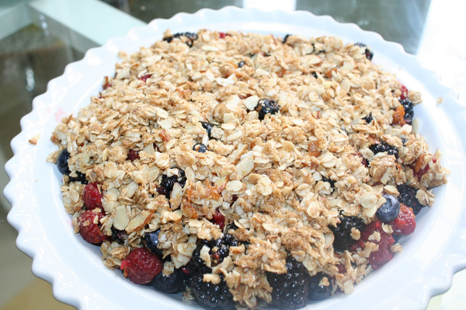 Guilt-Free Triple Berry Crisp with Cardamom Custard | Bliss Holistic ...