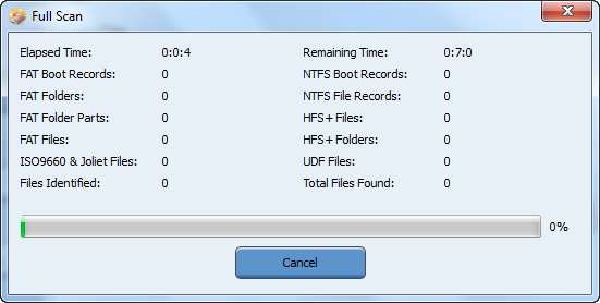 how to scan hard drive for deleted files