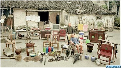 Foto Koleksi Peralatan Didalam Rumah Yang Dimiliki Keluarga Miskin DiChina