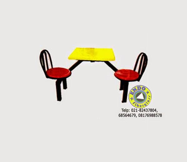 Produk meja kursi fiberglass untuk restoran