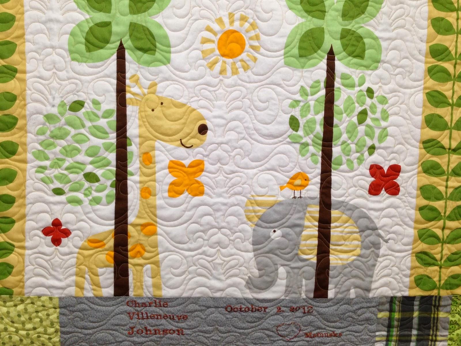 Paula Bergstrand's Elephant and Giraffe Quilt
