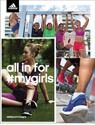 Adidas All in for #mygirls
