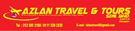 AZLAN TRAVEL & TOURS SDN BHD TN 33-1,JALAN BBSE 2,BANDAR BARU SIMPANG EMPAT,78000 ALOR GAJAH,MELAKA