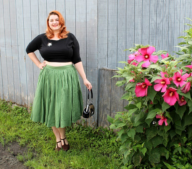 how to wear crop tops from va voom vintage