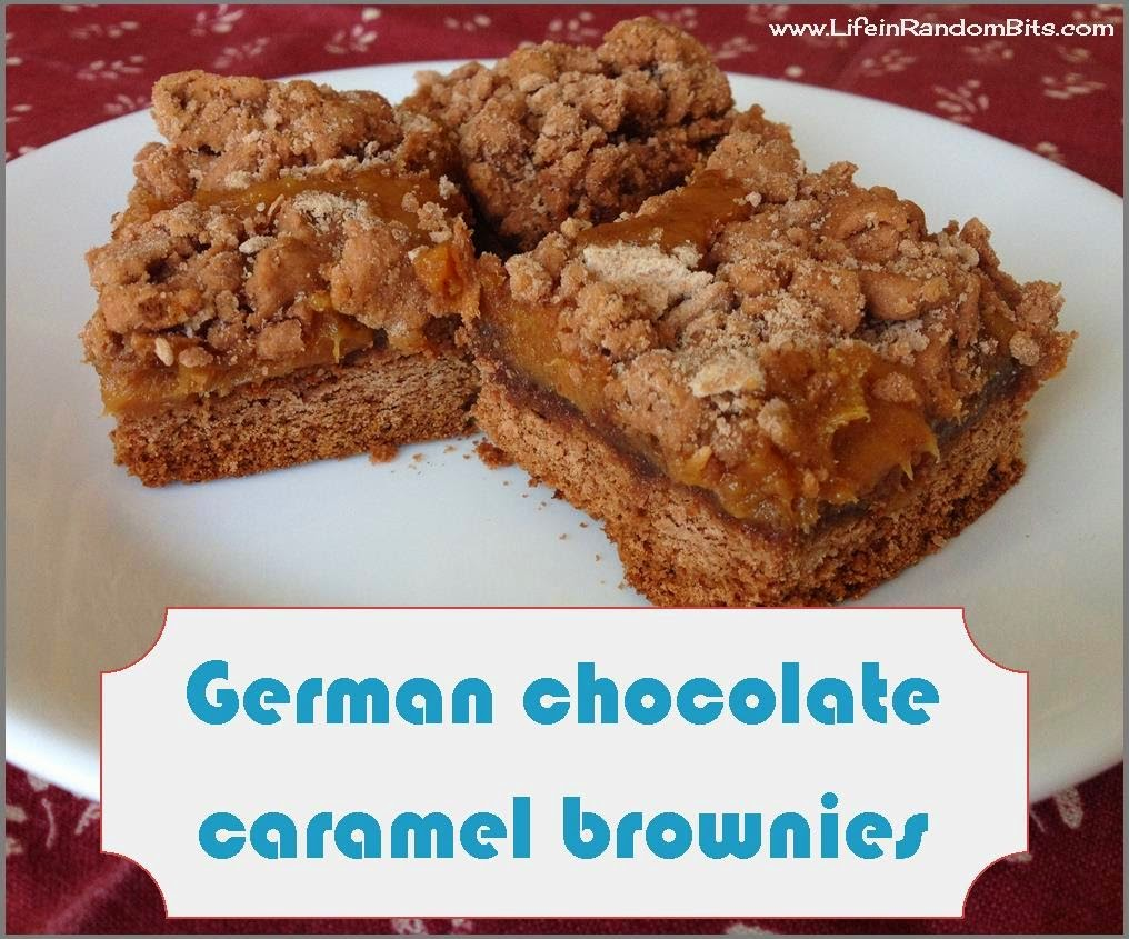 German chocolate caramel brownies #dessert #brownies #caramel