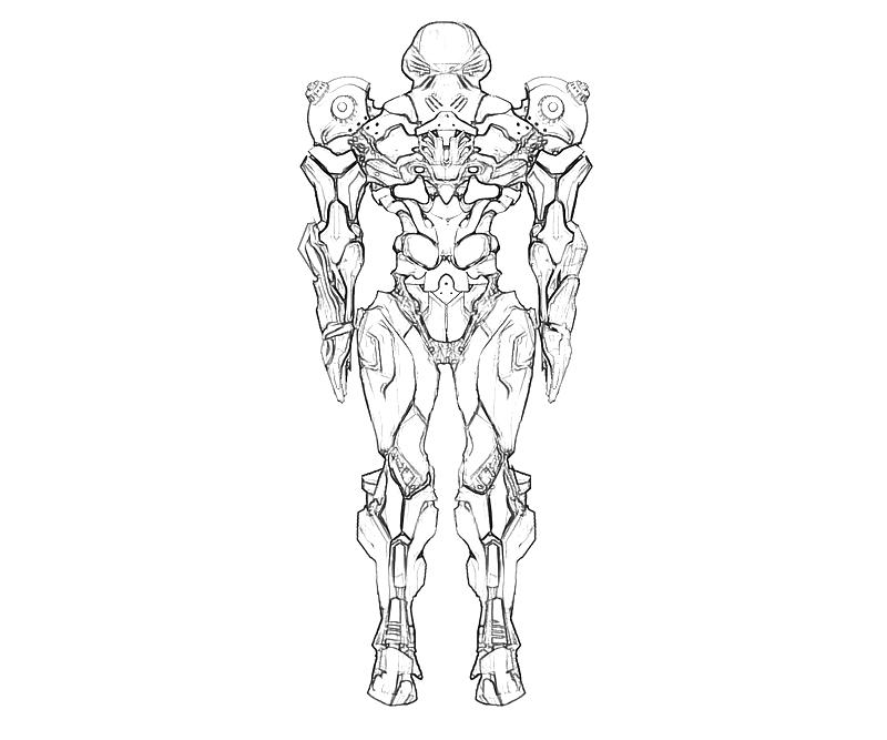 Printable Samus Aran Uniform Coloring Pages