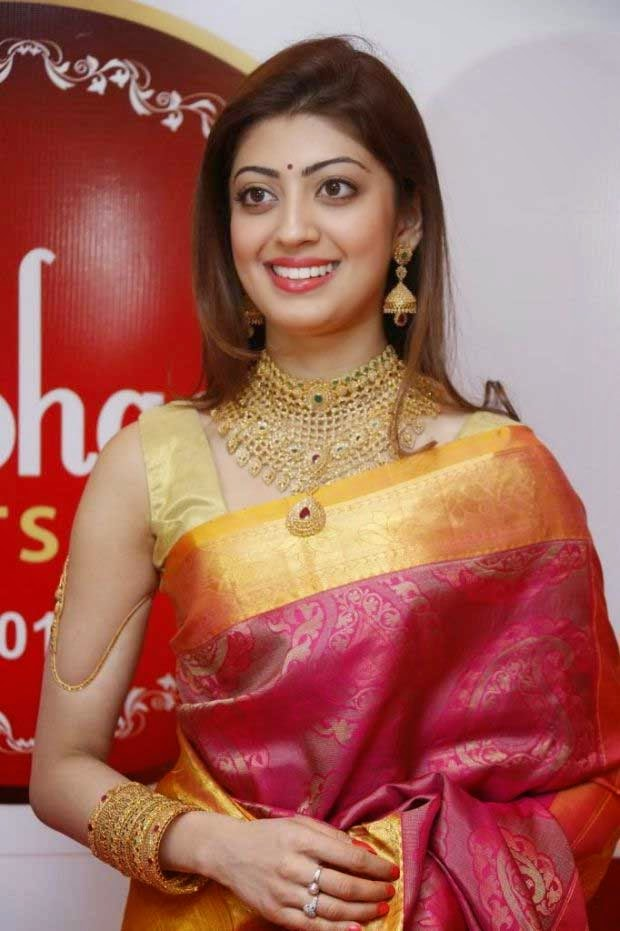 Pranitha wore uncut diamond choker necklace and earrings