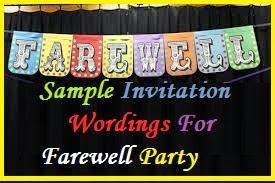 Sample Invitation Wordings Farewell Party