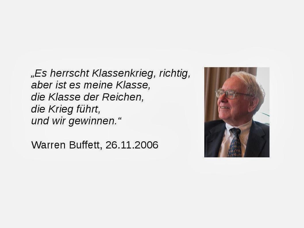 Warren Buffet: Klassenkrieg