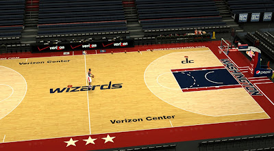 NBA 2K14 Washington Wizards Court Patch