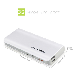 ALLPOWERS™ 3nd Gen 3.5A Portable 15600mAh Power Bank External Battery Pack with iPower™ and Quick Charger Technology for Cell Phone, iPhone, iPad, Samsung, Blackberry, iPod, MP3, PSP, PDA and Most USB Devices