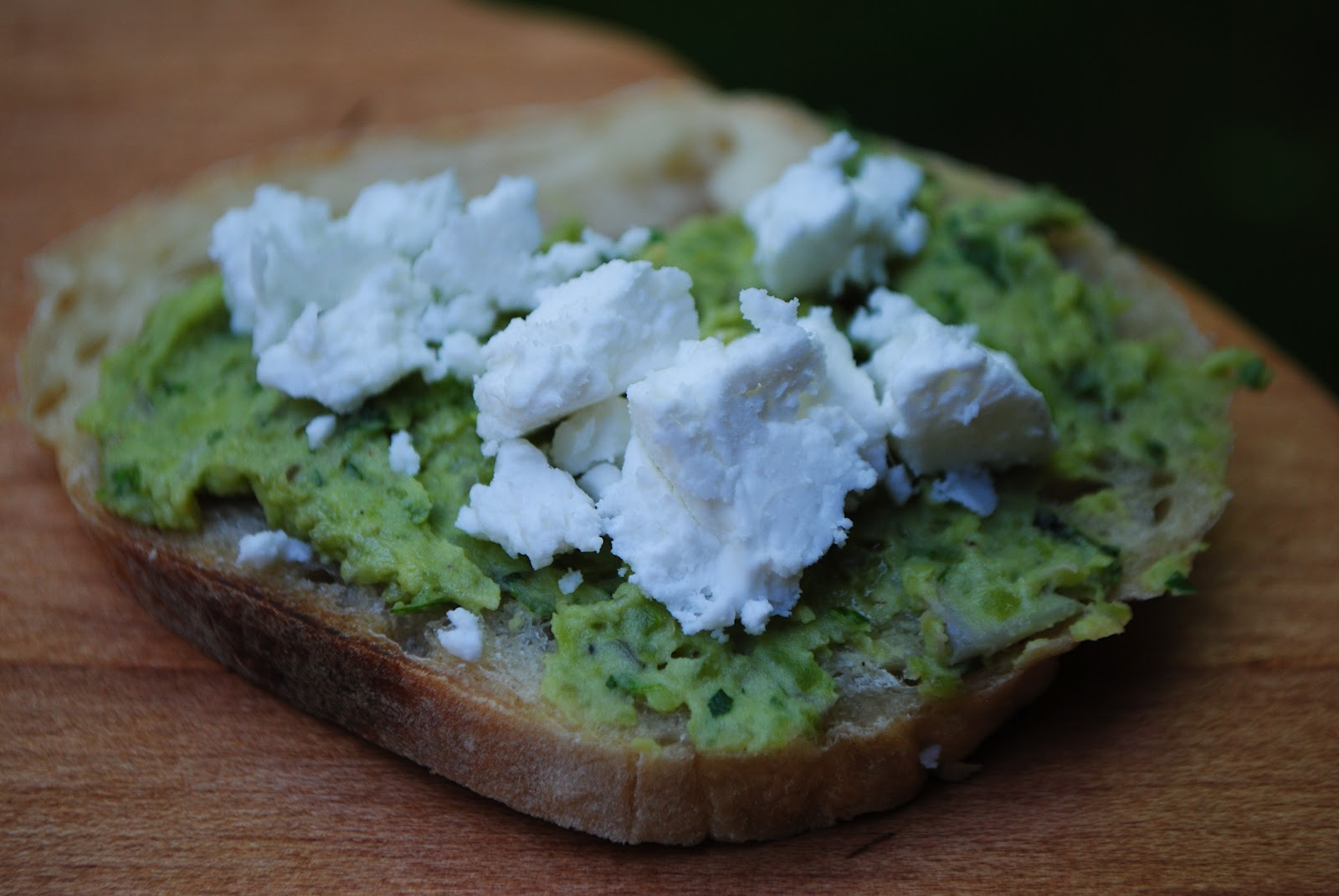 Fava Bean Crostini with Goat Cheese | The Enchanted Spoon