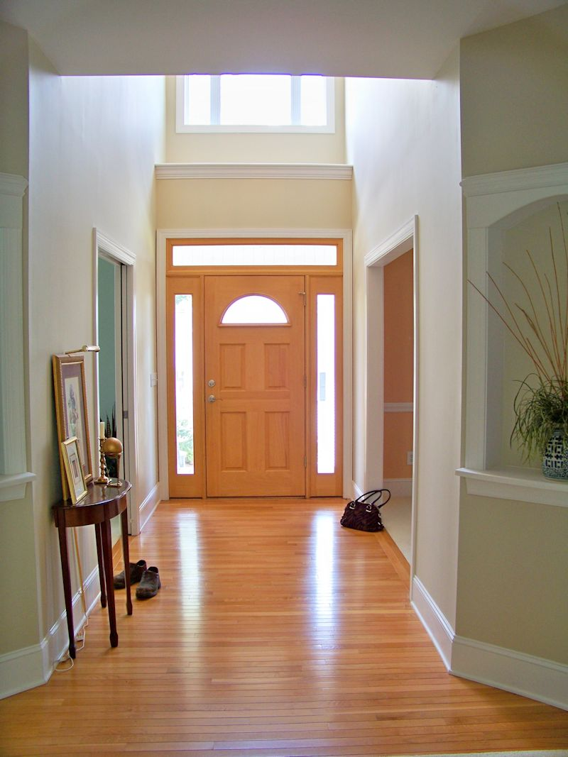 The comforts of home what shall i do with the foyer for Foyer flooring ideas