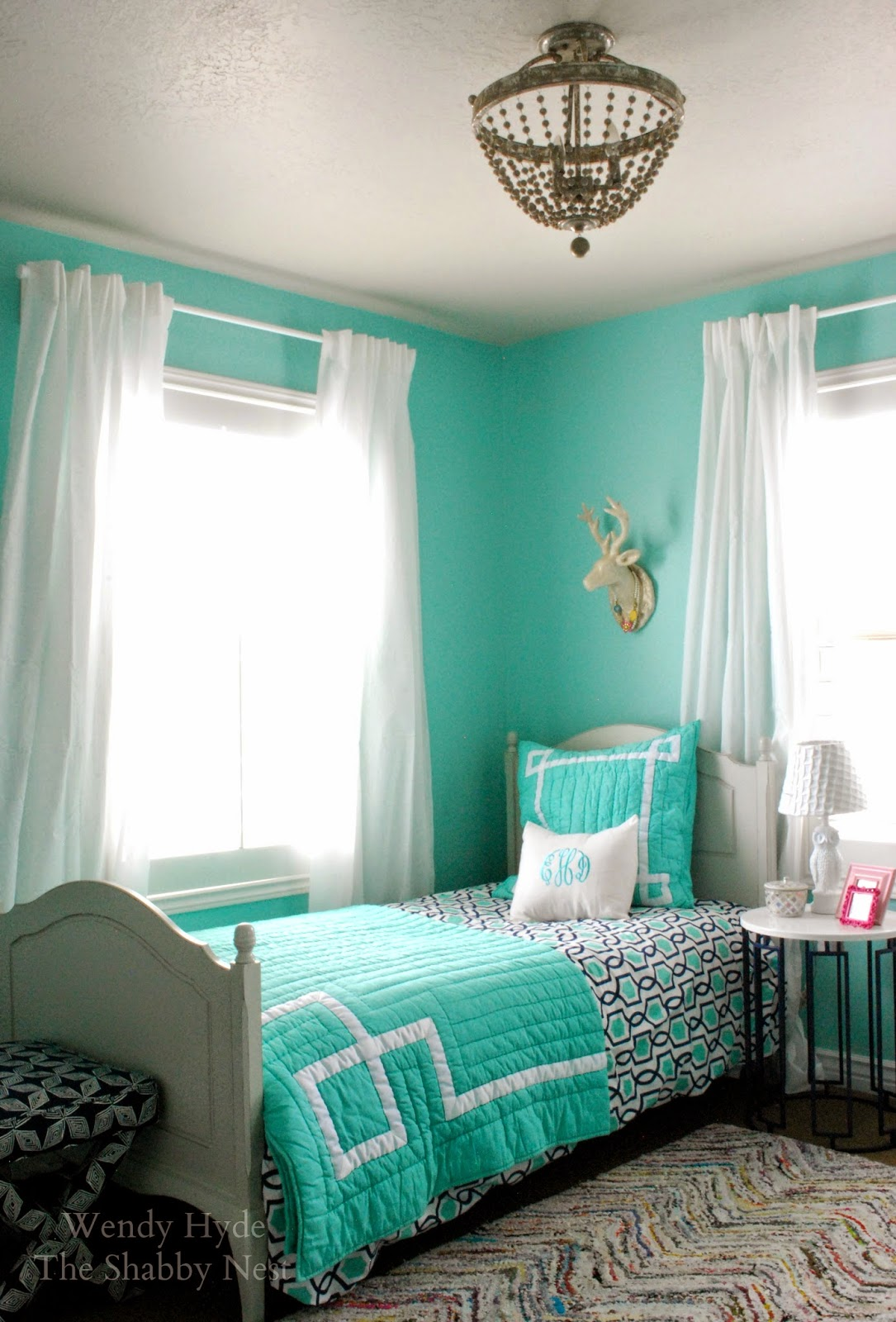 The shabby nest one room challenge the teen girl 39 s bedroom reveal - Girls bed room ...