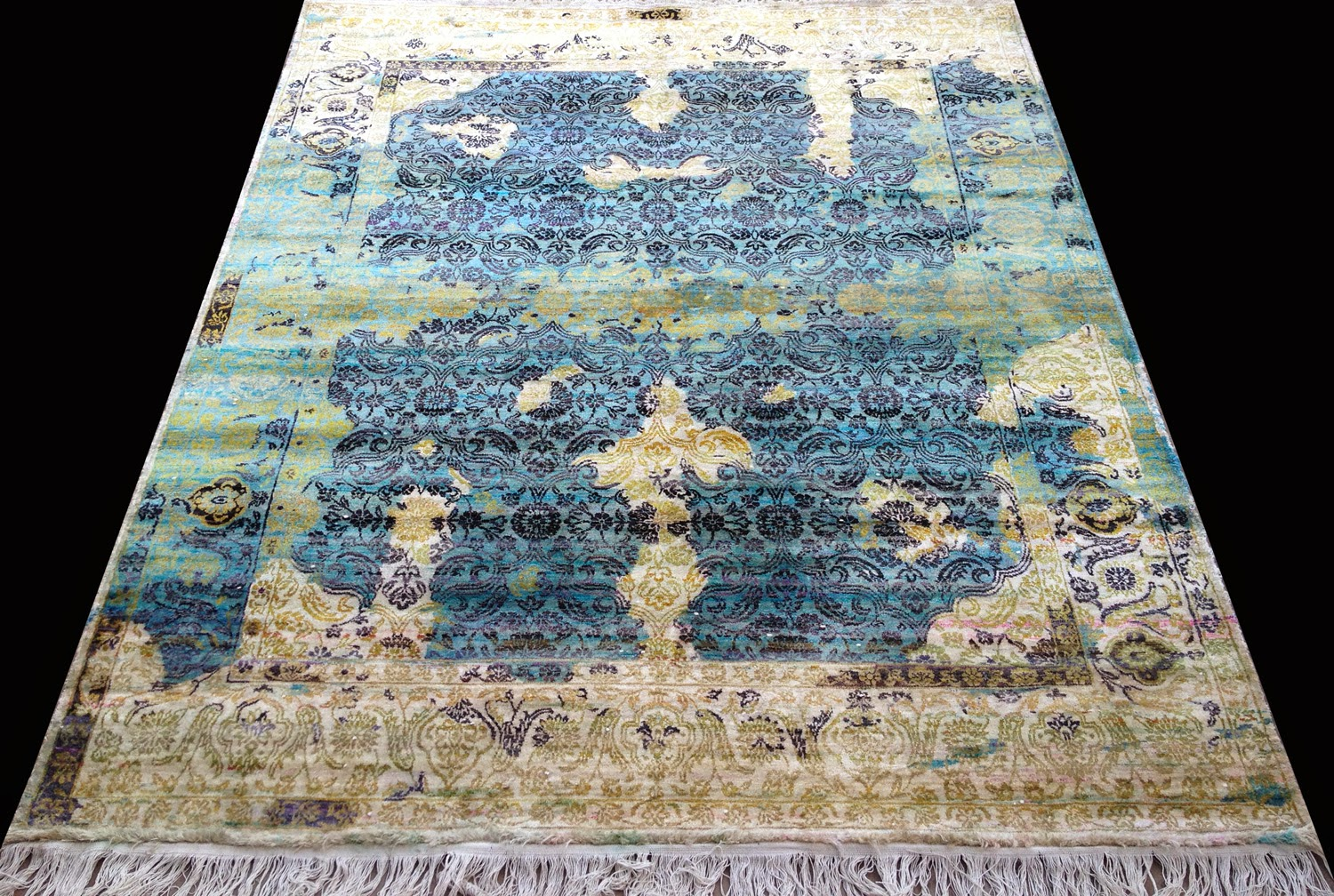 Recycled Sari Silk Carpets