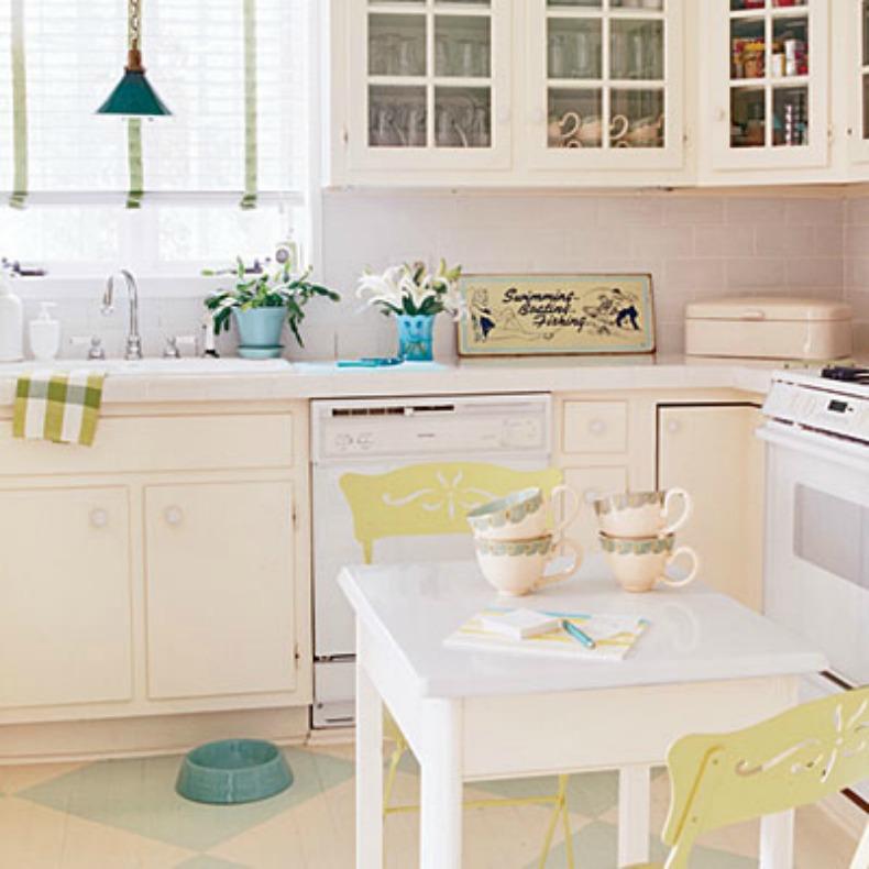 Coastal cottage beach house kitchen