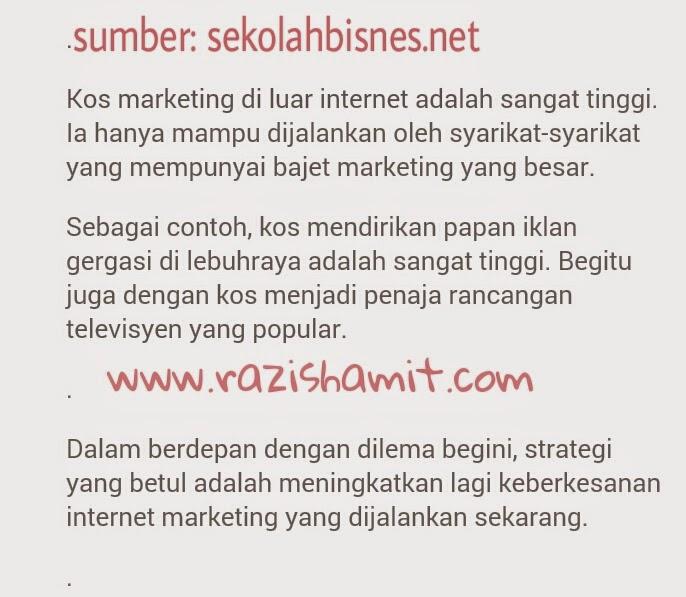 Bisnes Jimat Sehingga RM10k Setahun Dengan Internet Marketing