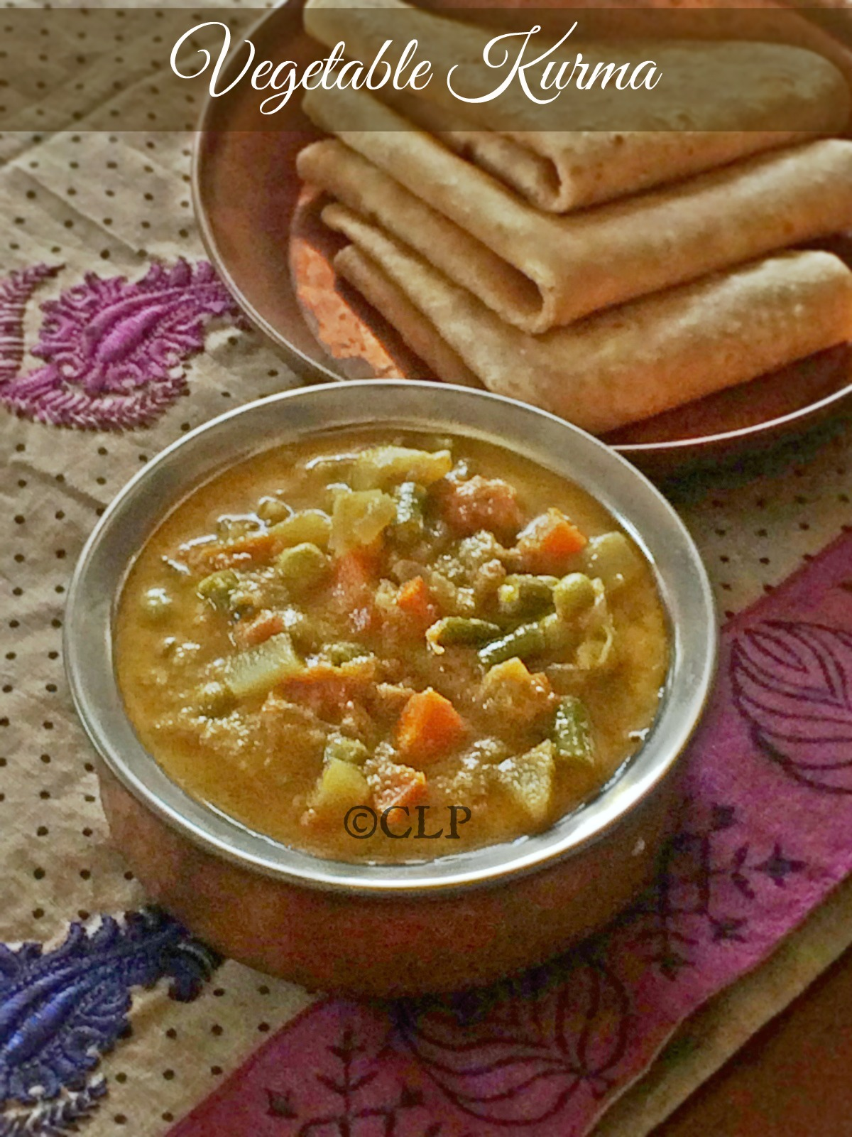 Vegetable Kurma For Chapathi Cook like Priya: Mixed...