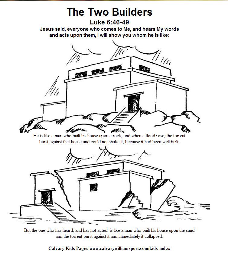 Build Your House On The Rock Children S Activities
