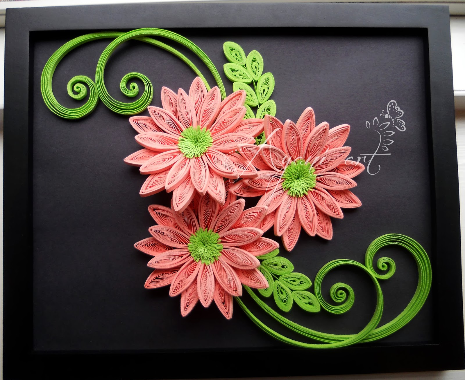 Ayani art quilling in pink and green quilling in pink and green jeuxipadfo Images