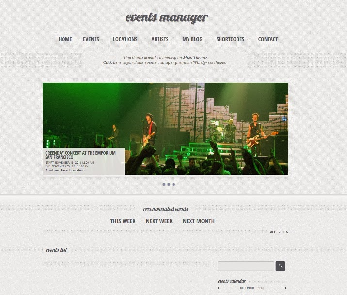 Eventful - Events Manager WordPress Theme