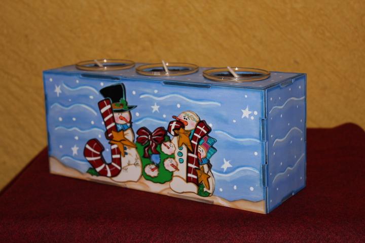 Porta velas mu ecos de nieve manualidades navide as paty - Porta velas navidenas ...