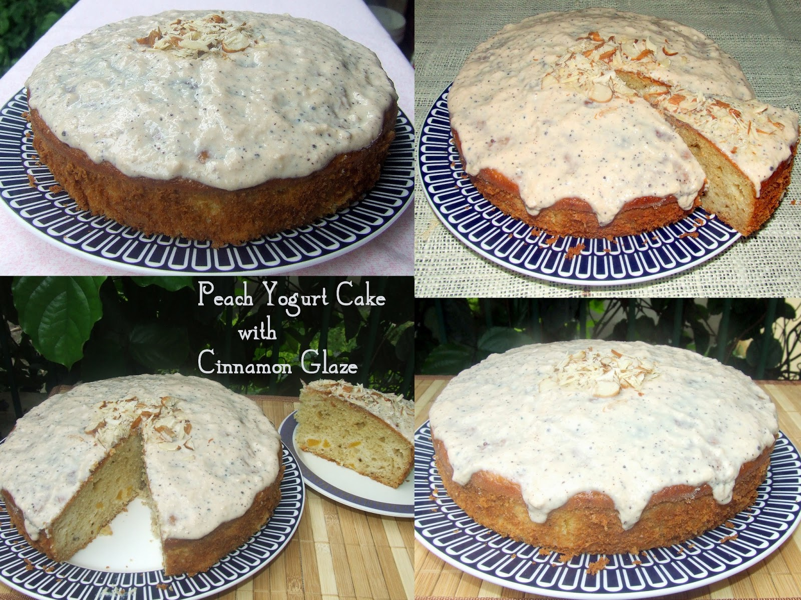 Peach Yogurt Cake With Cinnamon Glaze Recipe — Dishmaps