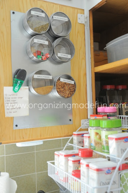 Magnetic spice containers :: OrganizingMadeFun.com