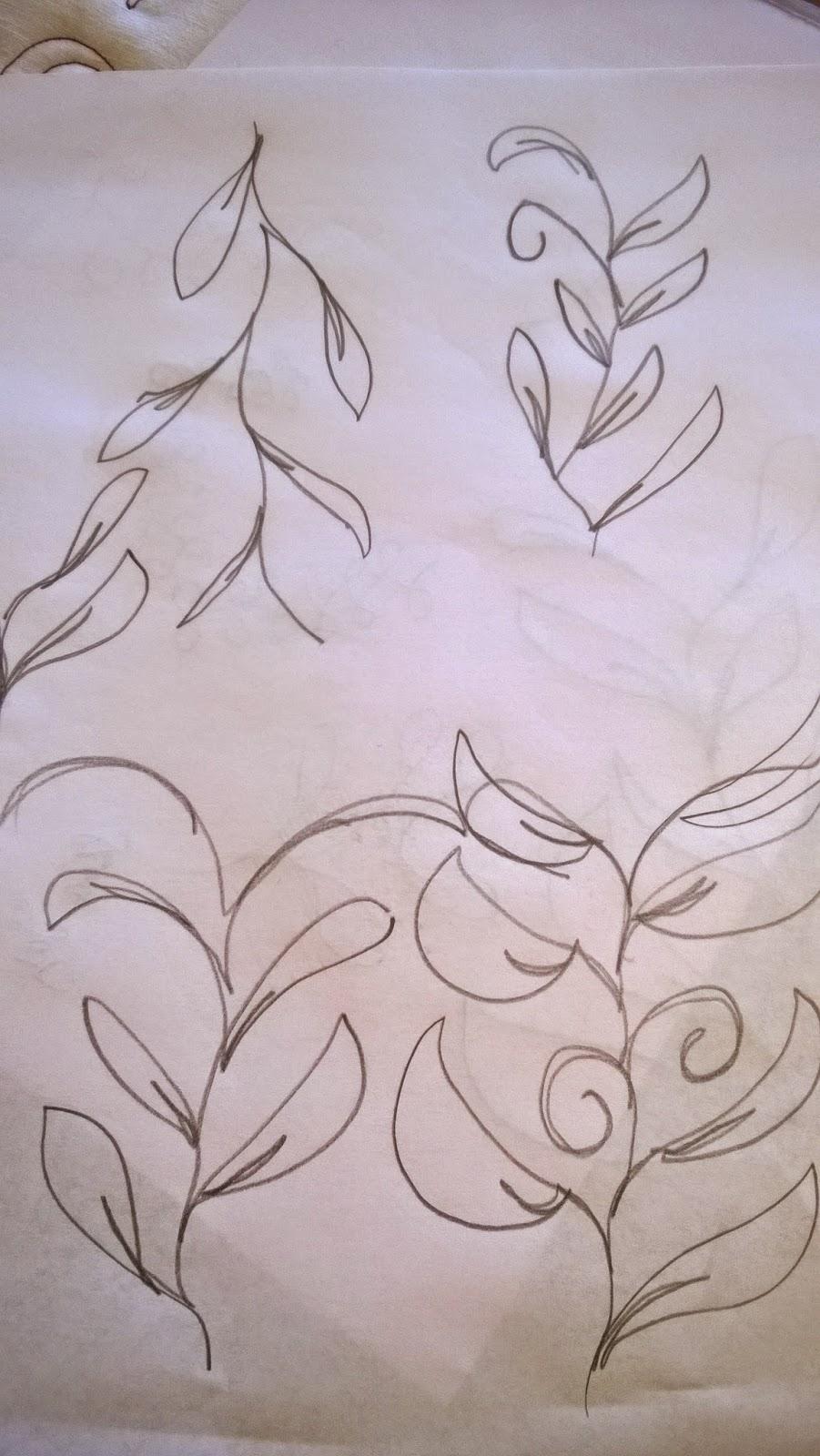 Skizzierte Blätterranke